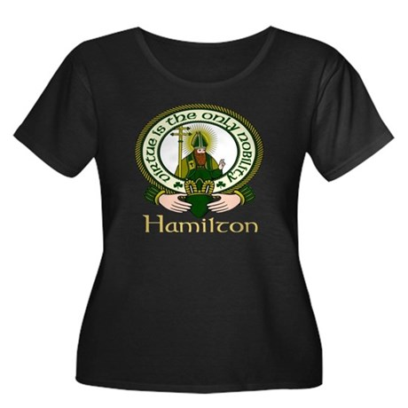 Hamilton Clan Motto Women's Plus Size Scoop Neck D