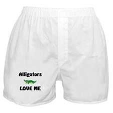 Alligators Love Me Boxer Shorts
