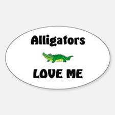 Alligators Love Me Oval Decal