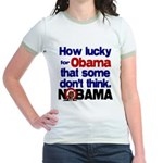 Lucky for Obama Jr. Ringer T-Shirt