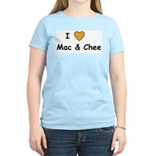 I heart Mac and Chee Women's Pink T-Shirt