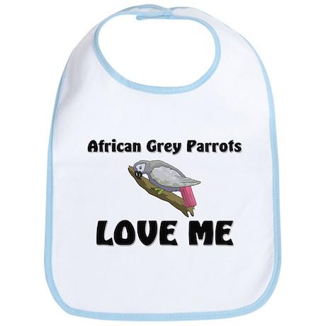 African Grey Parrots Love Me Bib