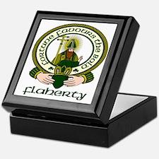 Flaherty Clan Motto Keepsake Box