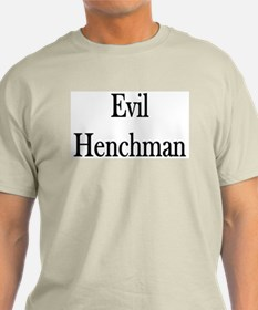 "Instant ""Evil Henchman"" Ash Grey T-Shirt"