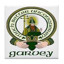 Garvey Clan Motto Tile Coaster