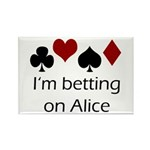Betting on Alice Rectangle Magnet