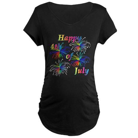 Happy 4th of July Maternity Dark T-Shirt