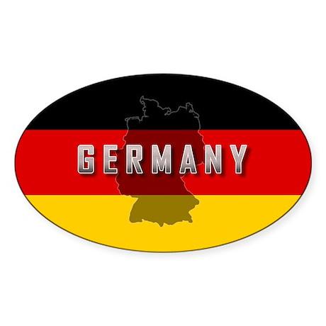 Germany Flag Extra Oval Sticker (50 pk)