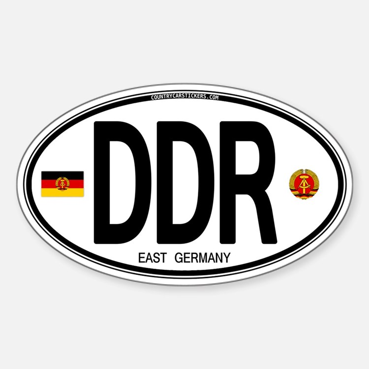 East Germany Euro Oval Oval Decal