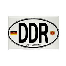 East Germany Euro Oval Rectangle Magnet