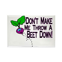 Beet Down Rectangle Magnet