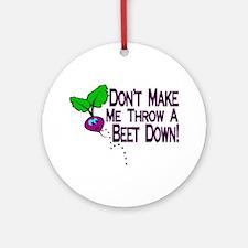 Beet Down Ornament (Round)
