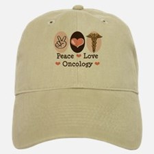 Peace Love Oncology Baseball Baseball Cap