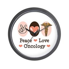 Peace Love Oncology Wall Clock