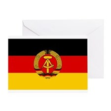 Flag of East Germany Greeting Card