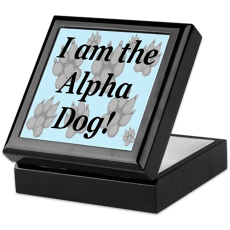 I Am The Alpha Dog! Keepsake Box