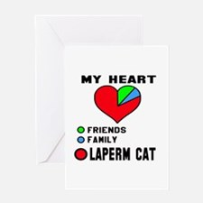 My heart friends, family LaPerm cat Greeting Card