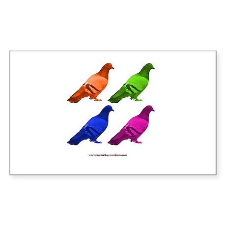Brian Pigeon Sticker (Rectangle)