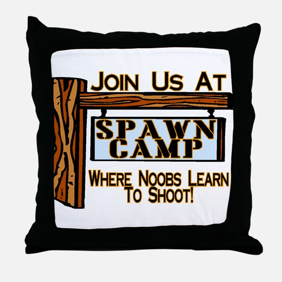 Spawn Camp Throw Pillow