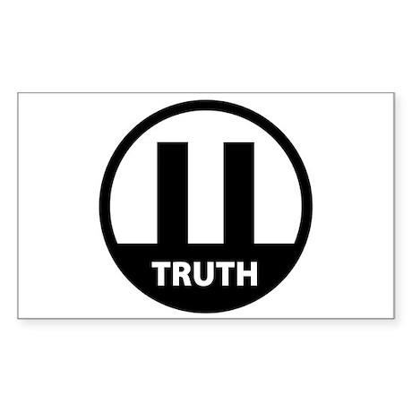 9/11 TRUTH Rectangle Sticker