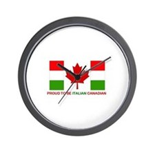 Proud to be Italian Canadian Wall Clock