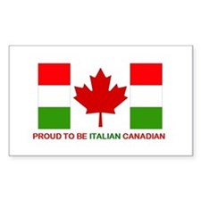 Proud to be Italian Canadian Rectangle Decal