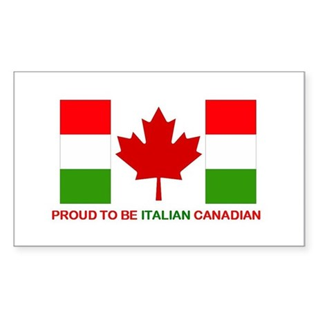 Proud to be Italian Canadian Rectangle Sticker
