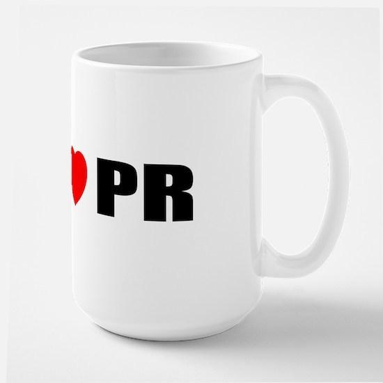 I Love PR Large Mug