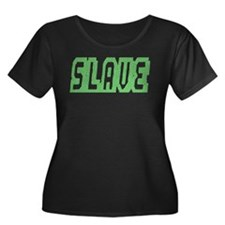 SLAVE-GREEN TEXTURED OUTLINE T