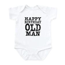 Happy Birthday Old Man Onesie