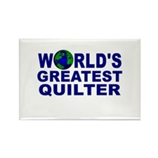 World's Greatest Quilter Rectangle Magnet