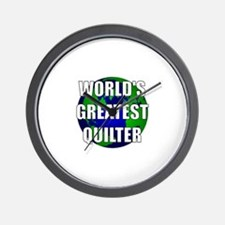 World's Greatest Quilter Wall Clock