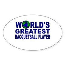 World's Greatest Racquetball Oval Decal