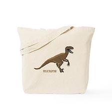 Velociraptor Dinosaur Tote Bag