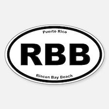 Rincon Beach Oval Decal