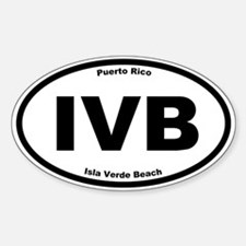 Isla Verde Beach Oval Decal