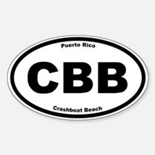 Crashboat Beach Oval Decal