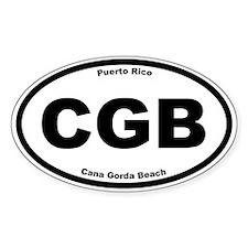 Cana Gorda Beach Oval Decal