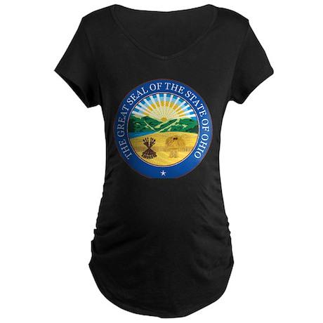 Ohio Seal Maternity Dark T-Shirt