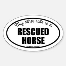 Rescued Horse Oval Decal