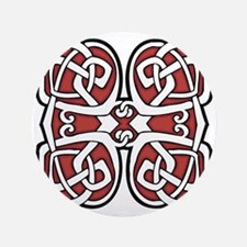 """CELTIC124_RED 3.5"""" Button"""
