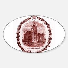 Dallas Old Red Oval Decal