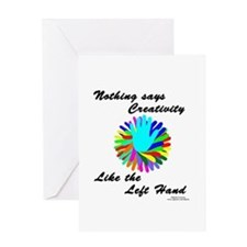 Left Handed Creativity Greeting Card