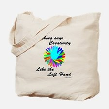 Left Handed Creativity Tote Bag