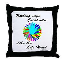 Left Handed Creativity Throw Pillow
