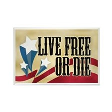 Live Free or Die Rectangle Magnet (100 pack)