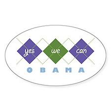 Argyle Obama Oval Decal