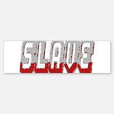 SLAVE-RED/GREY MOSAIC OUTLINE Bumper Bumper Bumper Sticker
