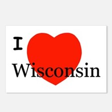 I Love Wisconsin! Postcards (Package of 8)