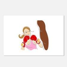 Angry Female Boxer Postcards (Package of 8)